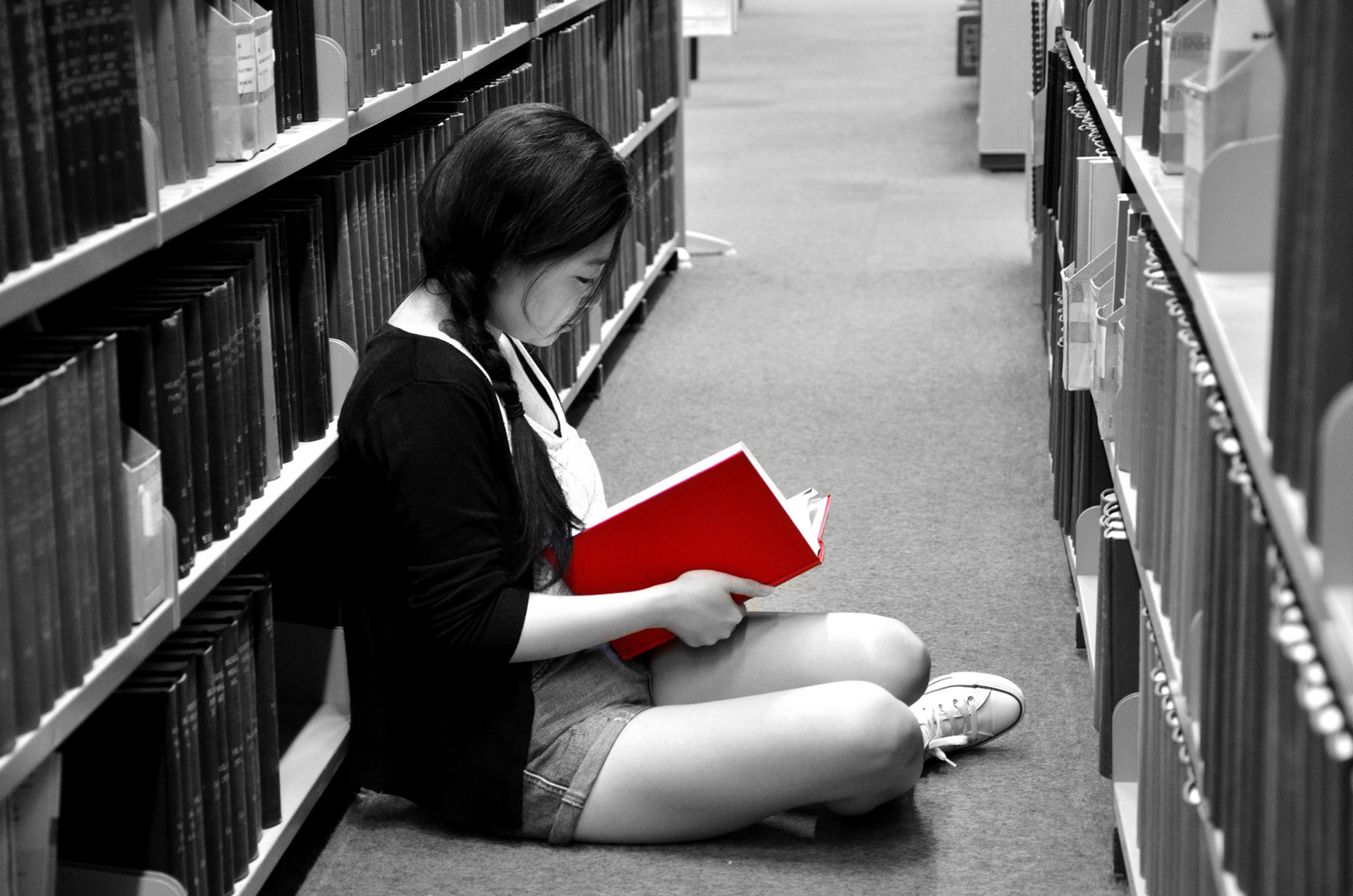 Reading is the passion. The first floor of library