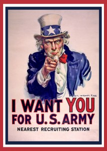 US Army recruiting poster by DonkeyHotey