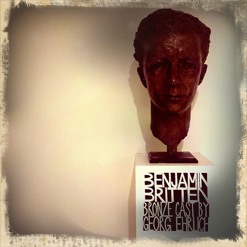 Benjamin Britten in bronze by Michael Ambjorn