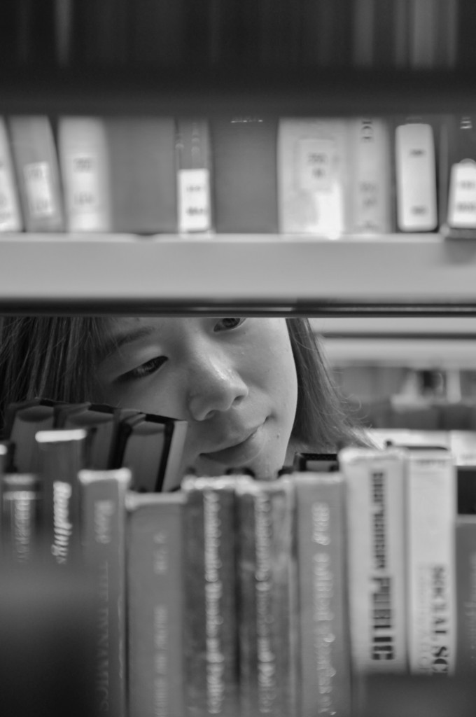 peaceful mind in library