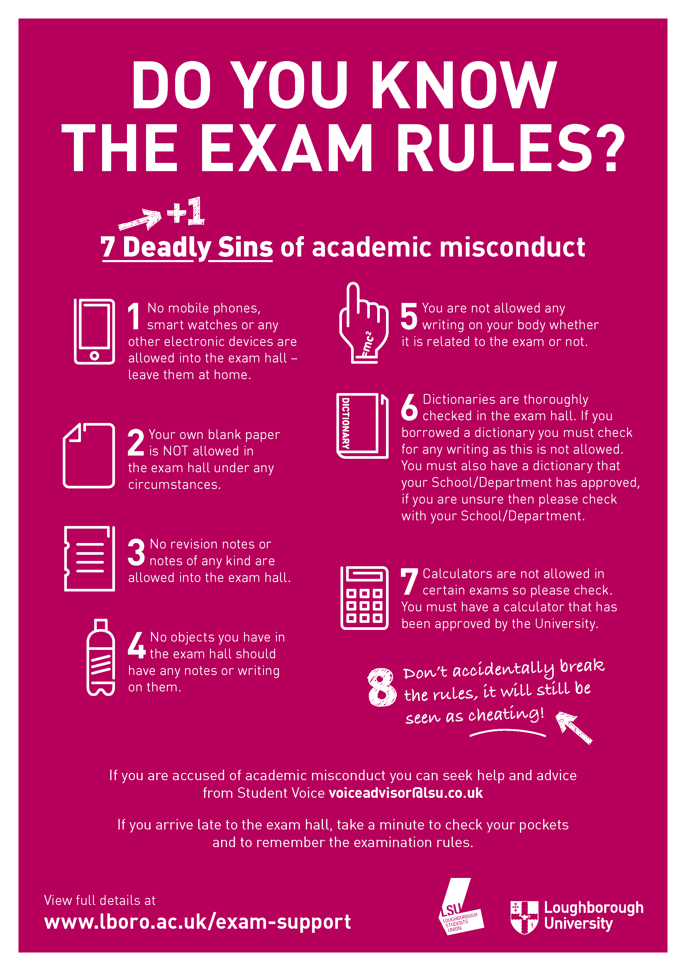 Know the Exam Rules – Avoid the 7 Deadly Sins! | ad-lib