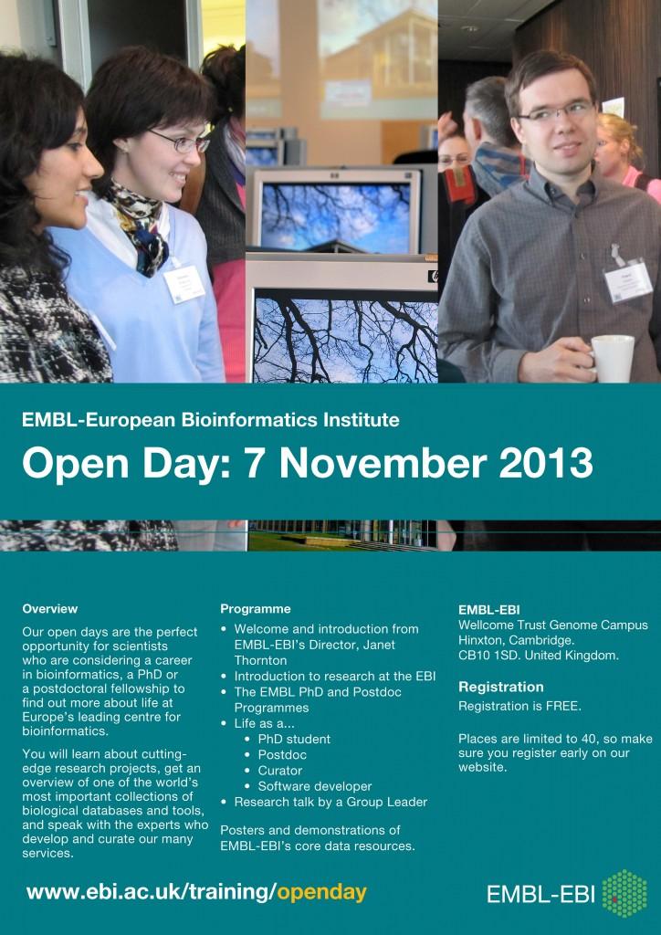 Open day poster Nov 2013