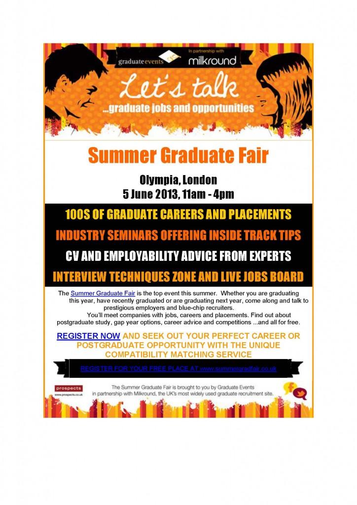 Summer Graduate Fair