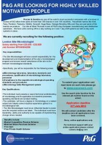 MICROBIOLOGIST ADVERT JULY 2014
