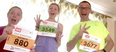 This is how excited our three runners are at the thought that you're going to sponsor them :-)