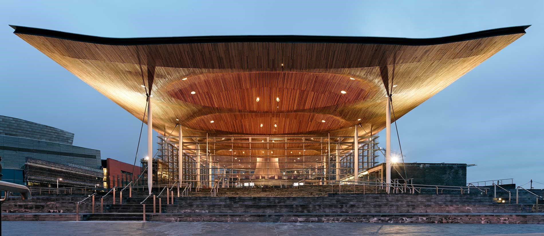 Exterior view of the Welsh Assembly Building