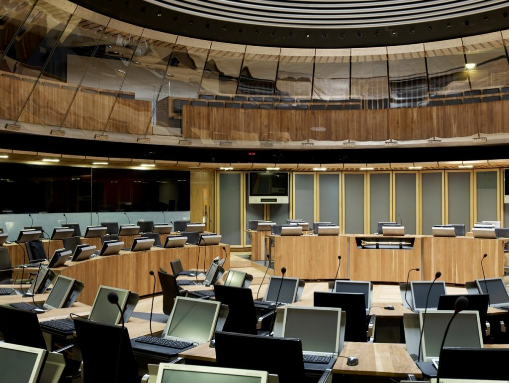 View of the Welsh Assembly Debating Chamber