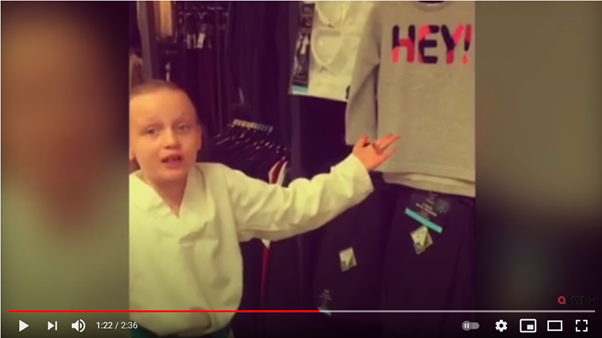 8 year old Daisy Edmonds explains to her mum what is wrong with the gendered clothes they find in Tesco