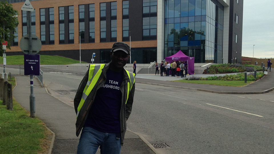 David at the 2017 summer Loughborough University Open Day
