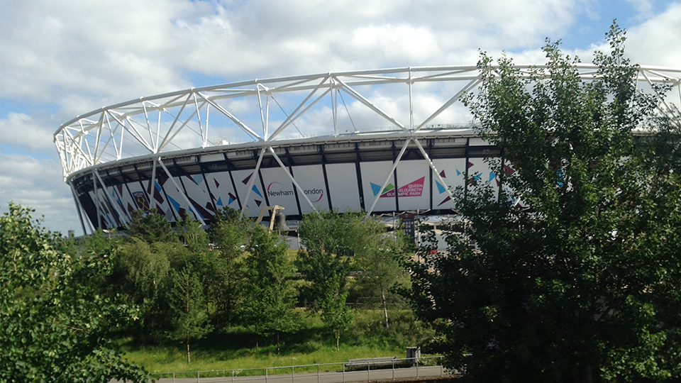 London Stadium in the Queen Elizabeth Olympic Park
