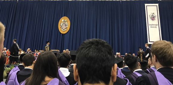 Graduation Ceremony with Lord Seb Coe in Sir David Wallace Sport Hall
