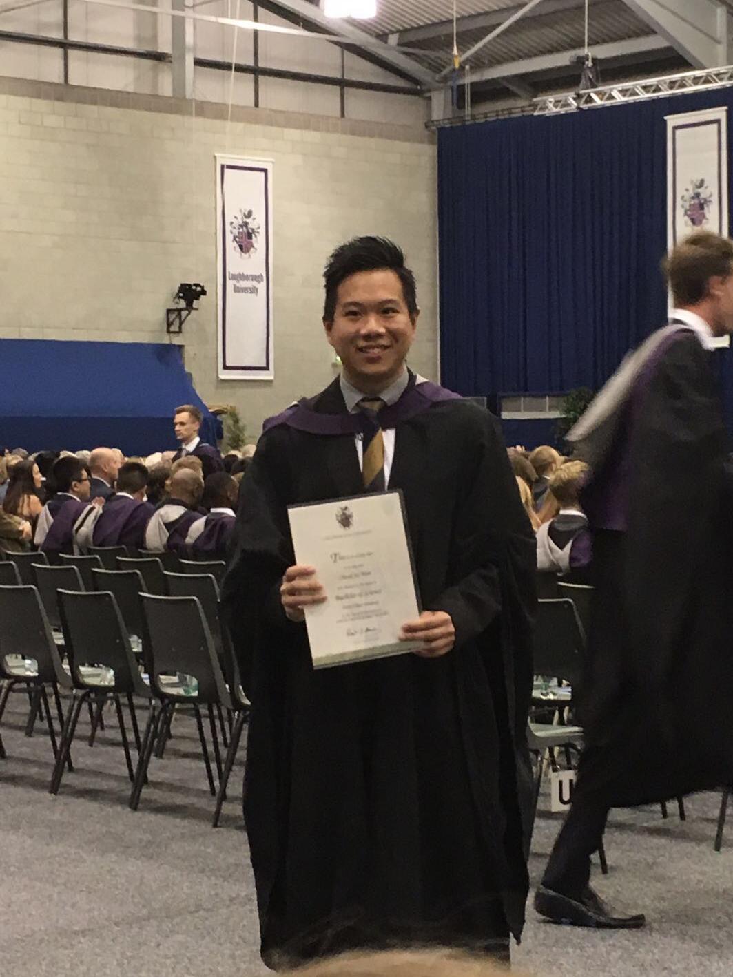Jacky and his diploma