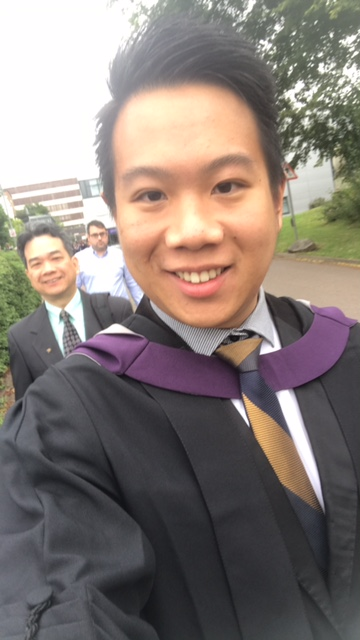 Jacky on his way to the graduation ceremony