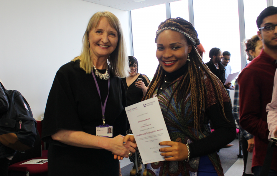 Receiving the Loughborough Employability Award