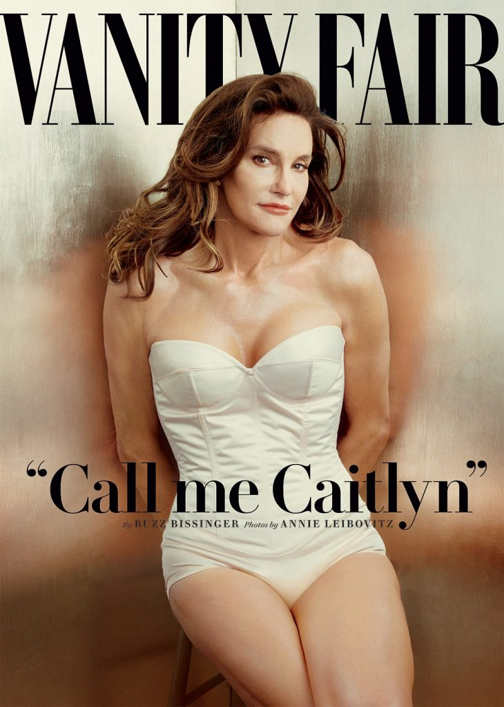 Image shows Caitlyn Janner on the cover of Vanity Fair magazine