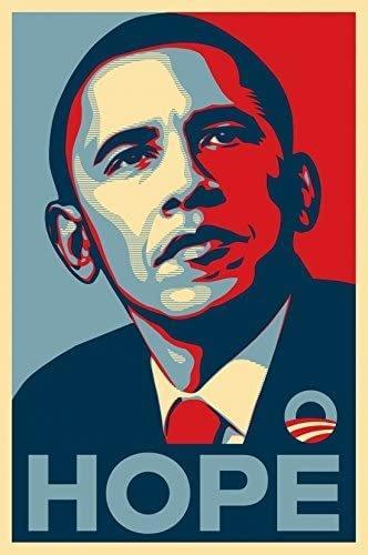 Hope poster of Barack Obama by Sheperd Fairey, 2008