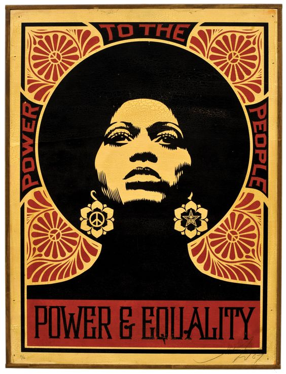 Power & Equality: Power to the People poster by Shepard Fairey c.2015