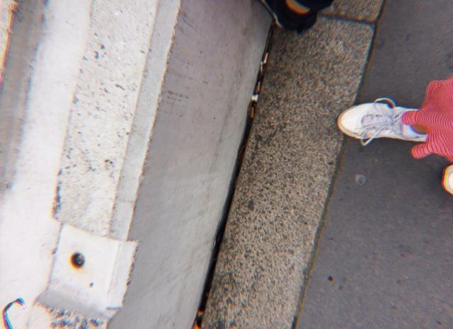 Selfie of Laura walking along a path