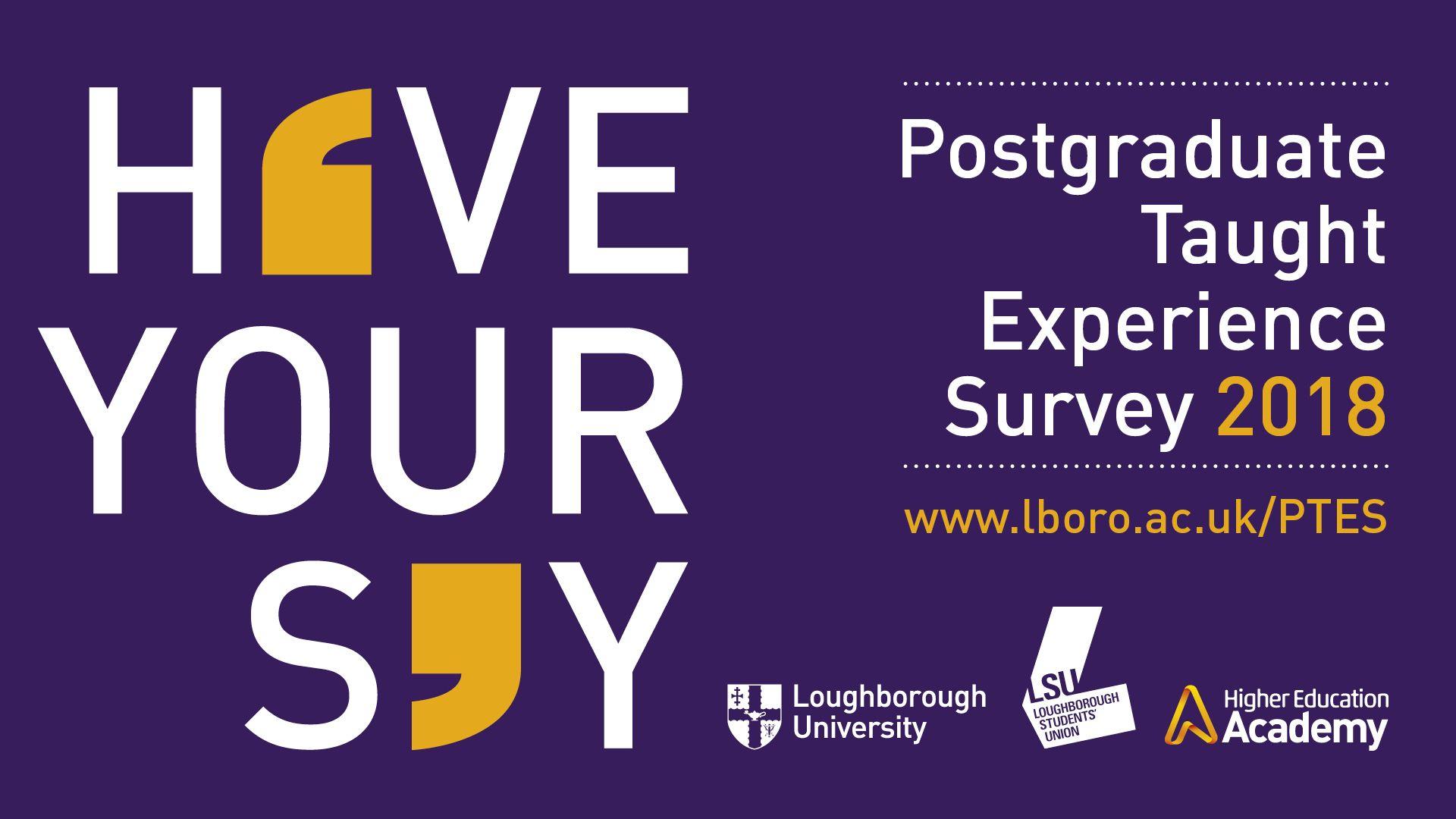 Postgraduate Taught Experience Survey 2018