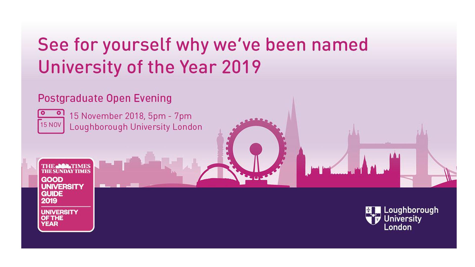 Loughborough University London Open Evening