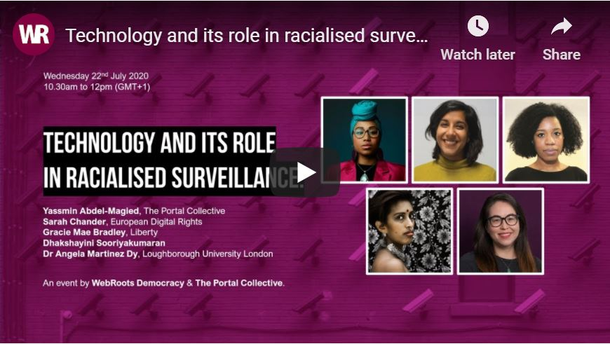 Technology and its role in racialised surveillance