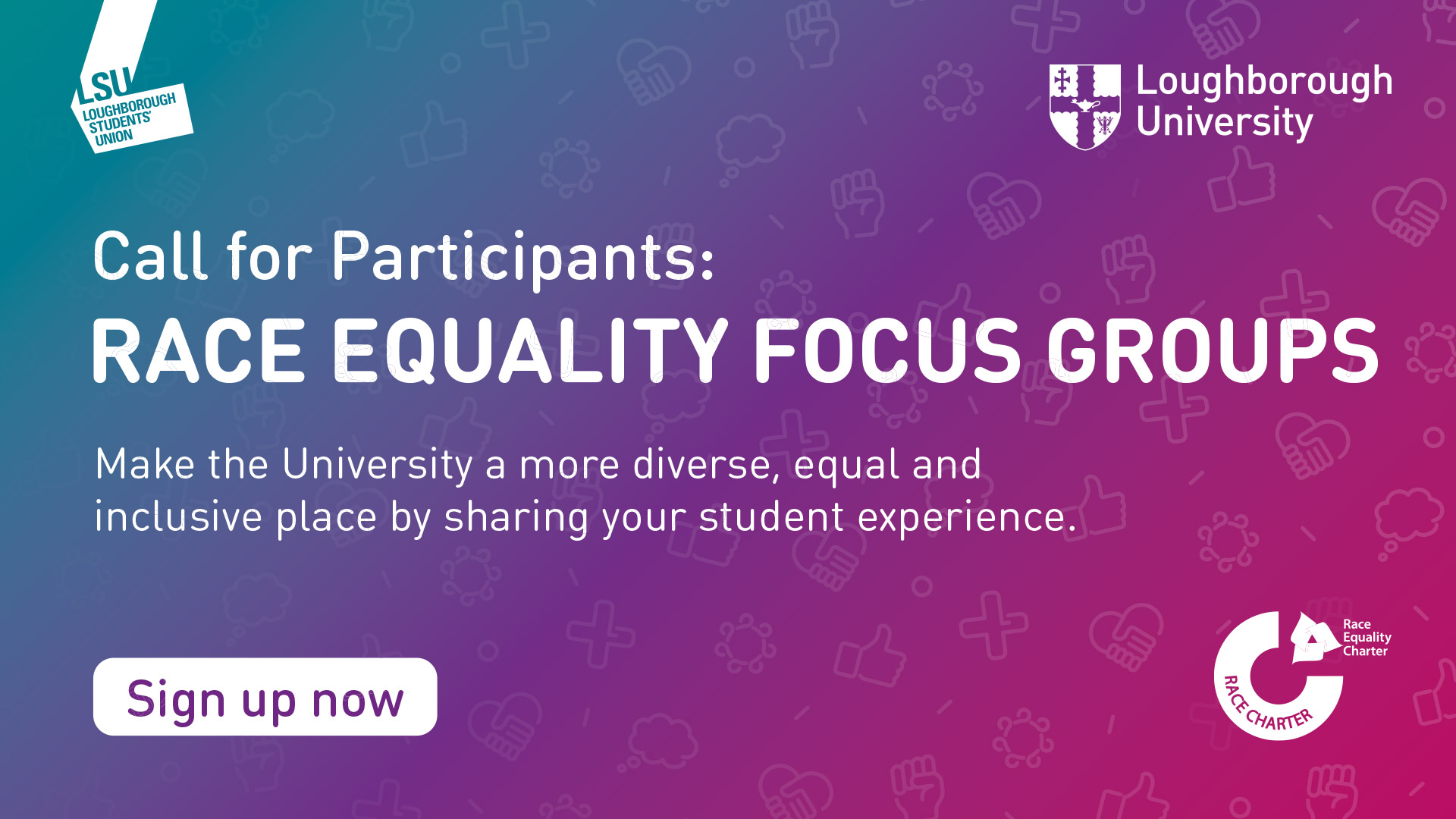 Call for participants: Student focus groups on Race Equality