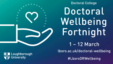 Booking for the Doctoral Wellbeing Fortnight are now open!