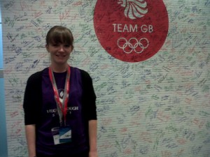 Laura with the support board