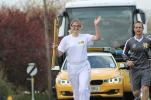 Alex Barker with the Olympic Torch!
