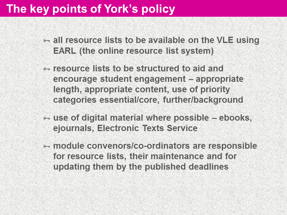 back to making resource lists work encouraging better use of online reading lists