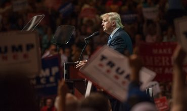 CANTON, OH - SEPTEMBER 14: Republican Presidential candidate Donald Trump speaks during a campaign rally at the Canton Memorial Civic Center on September 14, 2016 in Canton, Ohio. Recent polls show Trump with a slight lead over Democratic candidate Hillary Clinton in Ohio, a key battleground state in the 2016 election. (Photo by Jeff Swensen/Getty Images)