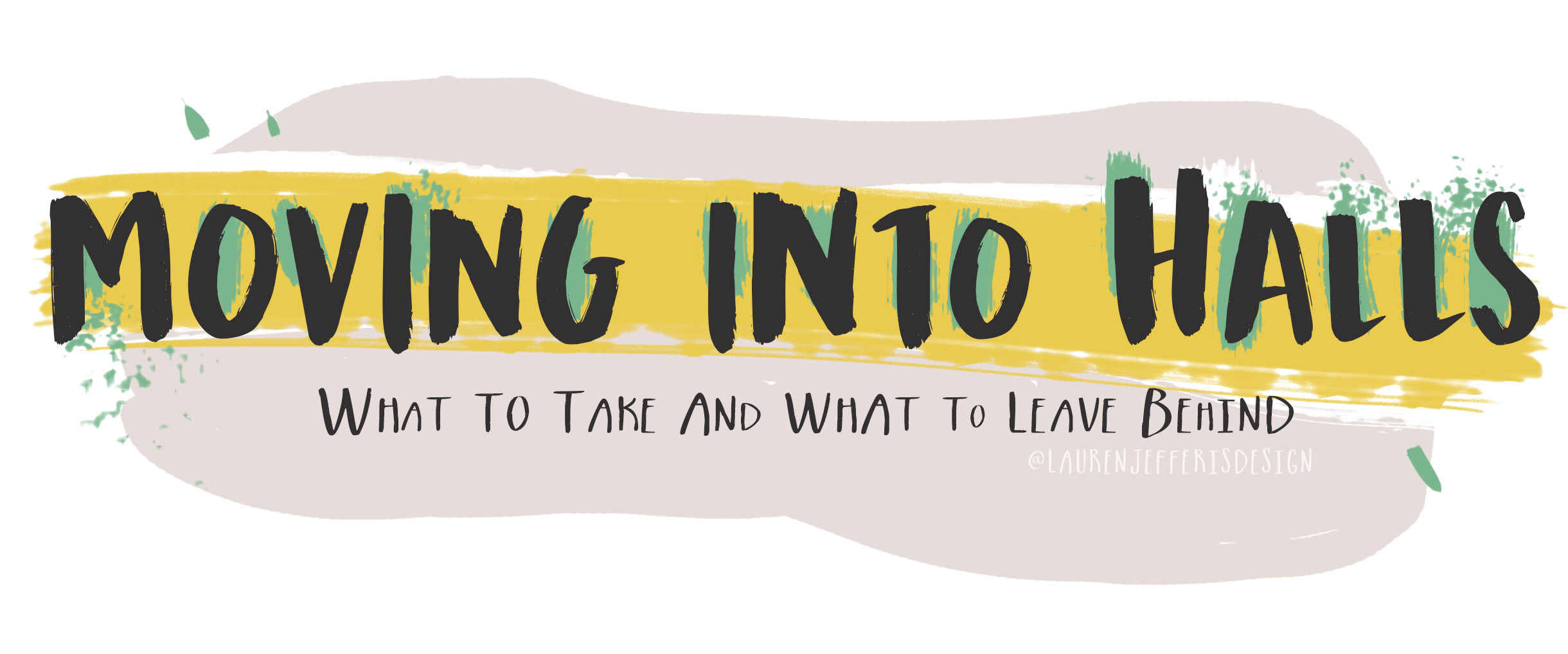 University halls: What to bring and what to leave behind - an illustrated blog