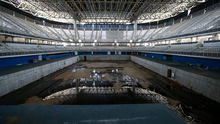 Rio aquatic centre, abandoned