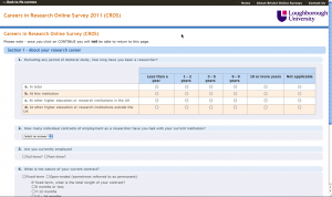 Screengrab of typical BOS survey