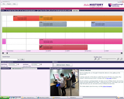 Timeline showing first year of an undergraduate at Lboro