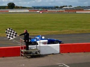 Chequered Flag by Linda Hogg