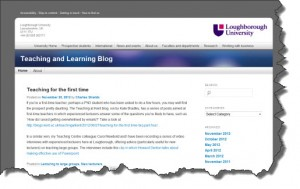 Teaching and learning blog