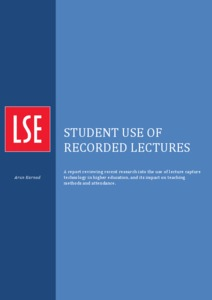LSE lecture capture report