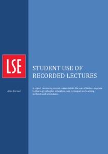 LSE lecture capture report