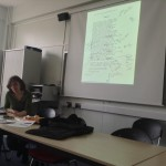 Clare Hutton demonstrating The Waste Land app