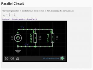 A circuit simulation in Learn