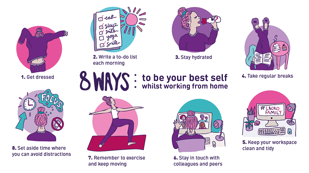 8 Ways to be your best self whilst working from home